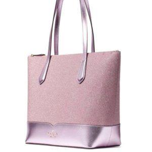 Kate Spade New York Lola Glitter Rose Pink Tote